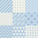 Seamless blue geometric pattern. Set Royalty Free Illustration