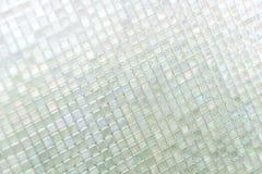 Seamless blue glass tiles texture background Stock Photo