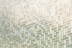 Seamless blue glass tiles texture background Stock Image