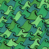 Seamless blue and green background with waves Royalty Free Stock Photography