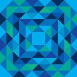 Seamless blue and green pattern made from triangle shapes Stock Photo
