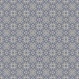 Seamless Blue & Grey Damask Wallpaper Pattern Stock Photo