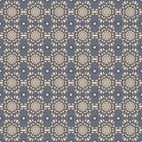 Seamless Blue & Grey Damask Wallpaper Pattern Royalty Free Stock Photography