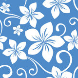 Seamless Blue Hawaii Pattern stock image