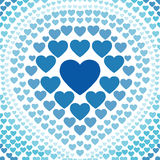 Seamless blue heart abstract background vector Royalty Free Stock Images
