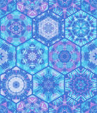 Seamless blue hexagons background. Royalty Free Stock Image