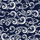 Seamless Blue Japanese Background Spiral Curve Wave Cross. Can be used for both print and web page Royalty Free Stock Image