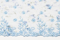 Seamless blue lace background Stock Photos