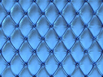 Seamless blue leather upholstery pattern, 3d illustration Royalty Free Stock Photography