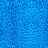 Seamless blue leopard texture pattern. Royalty Free Stock Images
