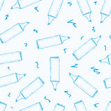 Seamless blue markers Royalty Free Stock Photography