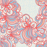 Seamless blue and orange pattern Stock Photography