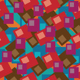Seamless blue pattern stock illustration