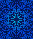 Seamless blue pattern Stock Photography