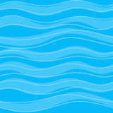 Seamless blue pattern with calm waves Royalty Free Stock Photography