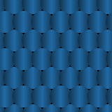 Seamless Blue Pattern Created from Circle Intersections Stock Photography