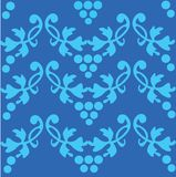 Seamless blue pattern, design illustration - 2 royalty free illustration