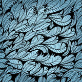 Seamless blue pattern with feather Royalty Free Stock Images