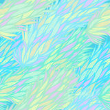 Seamless blue pattern with feathers Royalty Free Stock Photos