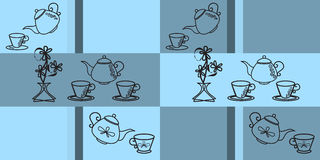 Seamless blue pattern for kitchen Stock Image