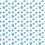 Seamless blue pattern of many snowflakes on white background. Ch. Ristmas winter theme for gift wrapping. New Year seamless background for website Royalty Free Stock Photography