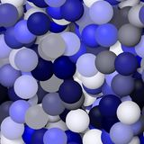 Seamless blue pattern of rendered glass balls Royalty Free Stock Images