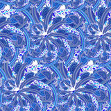 Seamless blue pattern Russian folk Gzhel Royalty Free Stock Photography