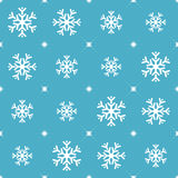 Seamless blue pattern with snowflakes. Stock Images