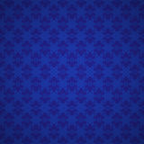 Seamless blue pattern with snowflakes. Seamless blue vector pattern with snowflakes and vignette Royalty Free Stock Image