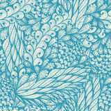 Seamless blue pattern with spirals Royalty Free Stock Photo