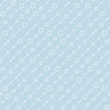Seamless blue pattern with stars. Stock Photo