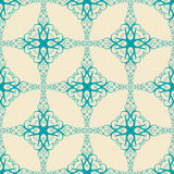 Pattern with blue swirls Stock Images