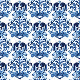 Seamless blue pattern. Royalty Free Stock Images
