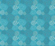 Seamless blue Pattern Stock Image