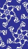 Seamless Blue Pinwheels Royalty Free Stock Images