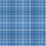 Seamless Blue Plaid Background. Plaid of soft blues with white Royalty Free Stock Photos