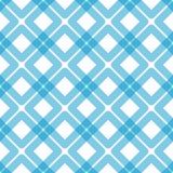 Seamless blue plaid squares pattern. Blue grid with squares over squares seamless background. Plaid picnic towel effect royalty free illustration