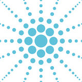 Seamless blue polka flower abstract pattern vector Stock Photography
