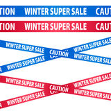 Seamless blue and red tapes - winter sale. Stock Images