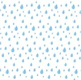 Seamless blue rein drop pattern on white, stock Stock Images
