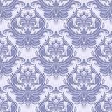 Seamless blue retro damask Wallpaper for Design Stock Photography