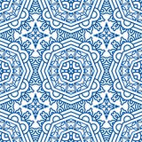Seamless Blue Retro Pattern Background