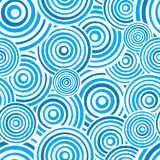 Seamless Blue Rings Pattern Stock Photos