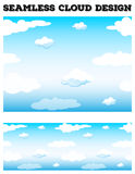 Seamless blue sky with fluffy clouds Stock Image