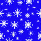 Seamless Blue Snowflakes Stock Photography