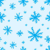 Seamless blue snowflakes Royalty Free Stock Photos