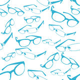 Seamless Blue Spectacle Pattern Vector Royalty Free Stock Image