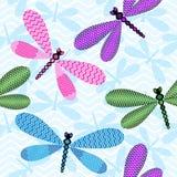 Seamless blue spring pattern Stock Photo