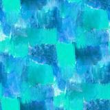 Seamless blue square circle background  watercolor Royalty Free Stock Photos