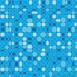 Seamless Blue Squares. Seamless wallpaper pattern with blue square and rectangular design, blue background, vector Stock Photos